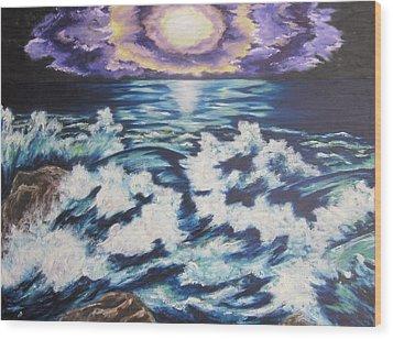 Making Waves Wood Print