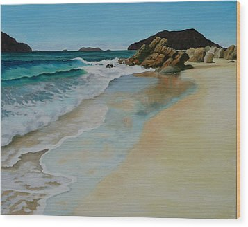 Wood Print featuring the painting Making Waves by Jo Appleby