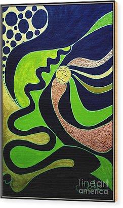 Making Waves.. Wood Print by Jolanta Anna Karolska