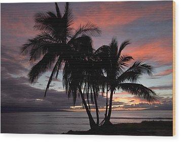 Mala Sunset Wood Print by James Roemmling