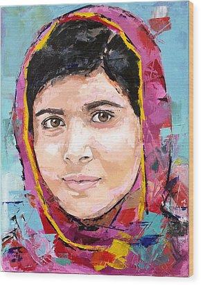 Malala Yousafzai Wood Print