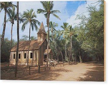 Malamalama Church Wood Print by Jenna Szerlag