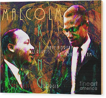 Malcolm And The King 20140205 With Text Wood Print by Wingsdomain Art and Photography