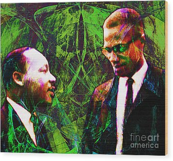 Malcolm And The King 20140205p68 Wood Print by Wingsdomain Art and Photography