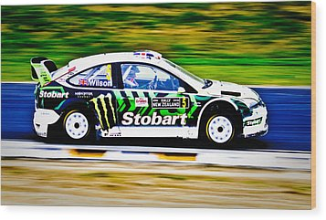 Malcolm Wilson Ford Focus Wood Print by motography aka Phil Clark