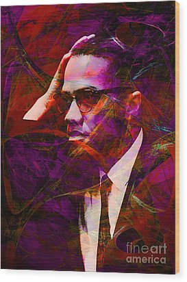 Malcolm X 20140105m28 Wood Print by Wingsdomain Art and Photography