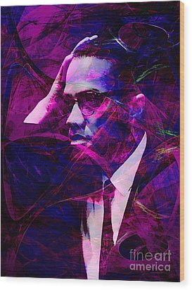 Malcolm X 20140105m88 Wood Print by Wingsdomain Art and Photography