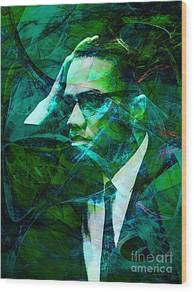 Malcolm X 20140105p138 Wood Print by Wingsdomain Art and Photography