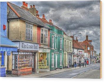 Malden Street Scene Wood Print by Geraldine Alexander