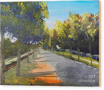 Maldon Victoria Australia Wood Print by Pamela  Meredith