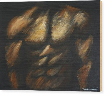 Male Bodybuilder Wood Print