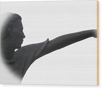 Male Educator Reaching Out Two Wood Print by Tina M Wenger