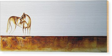 Lioness - Original Artwork Wood Print