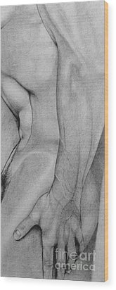 Male Nude 2 Wood Print by Stefano Campitelli