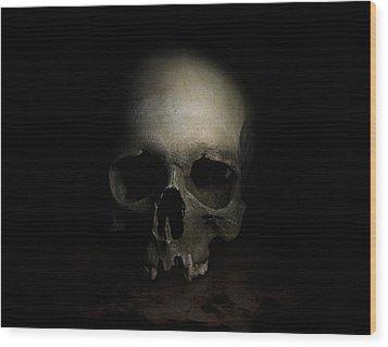 Male Skull Wood Print