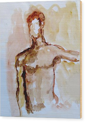 Male Torso Wood Print by James Gallagher