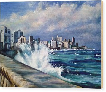 Malecon Havana Wood Print