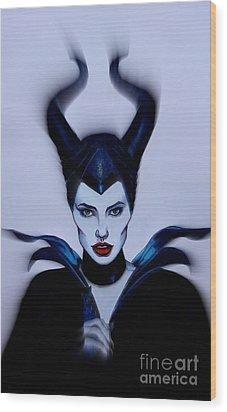 Maleficent Focused Wood Print