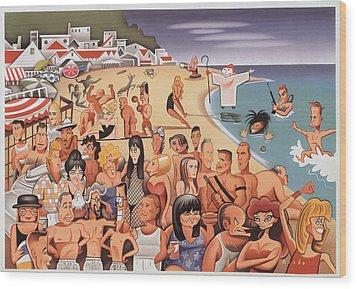 Malibu Beach Wood Print by Robert Risko