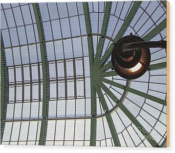 Wood Print featuring the photograph Mall Of Emirates Skylight by Andrea Anderegg