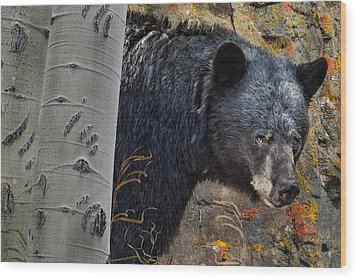 Mama Bear Wood Print by Ed Hall