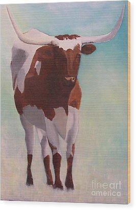 Mama Longhorn Wood Print by Susan Williams