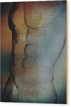 Man Body Wood Print by Mark Ashkenazi