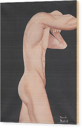 Man Wood Print by Brenda Bonfield
