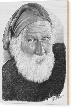 Man In Head Scarf Wood Print