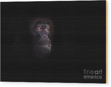 Man In The Mask Wood Print by Ashley Vincent