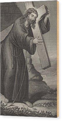 Man Of Sorrow Wood Print by English School