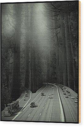 Man Verses Green Wood Print
