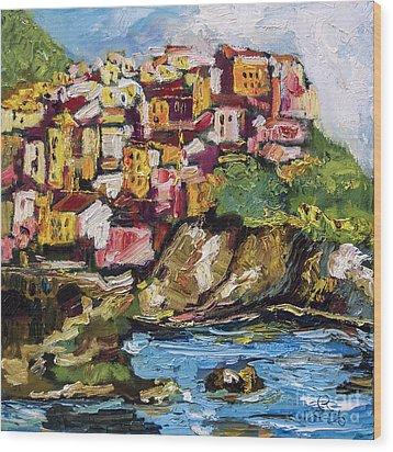 Manarola Italy Cinque Terre Wood Print