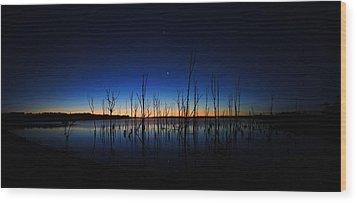 Wood Print featuring the photograph Manasquan Reservoir At Dawn by Raymond Salani III