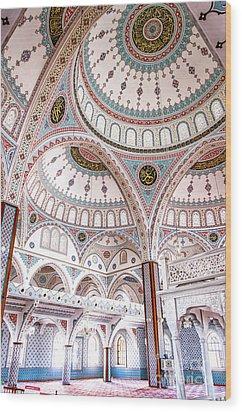 Manavgat Mosque Interior 02 Wood Print by Antony McAulay