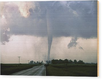 Wood Print featuring the photograph Manchester Tornado 3 Of 6 by Jason Politte