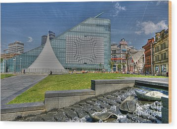 Manchester Urbis Building Wood Print by David Birchall