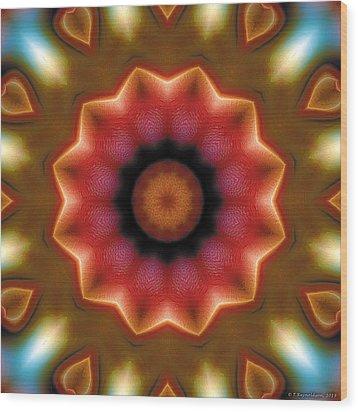 Mandala 103 Wood Print by Terry Reynoldson