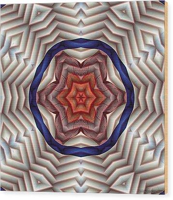 Mandala 12 Wood Print by Terry Reynoldson