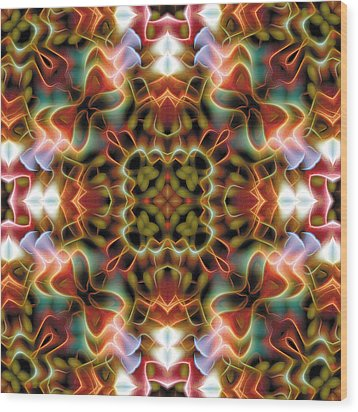 Mandala 120 Wood Print by Terry Reynoldson