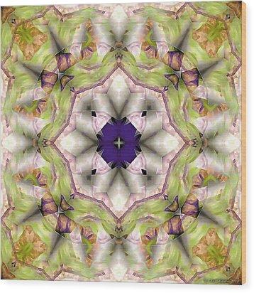 Mandala 127 Wood Print by Terry Reynoldson