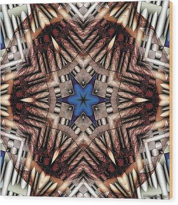 Mandala 13 Wood Print by Terry Reynoldson