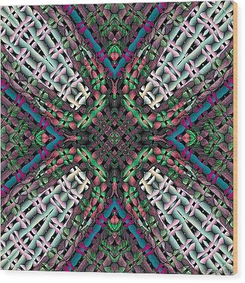 Mandala 32 Wood Print by Terry Reynoldson