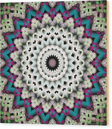 Mandala 36 Wood Print by Terry Reynoldson