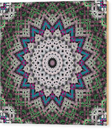Mandala 37 Wood Print