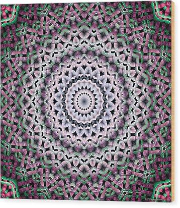 Mandala 38 Wood Print by Terry Reynoldson