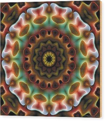 Mandala 74 Wood Print by Terry Reynoldson