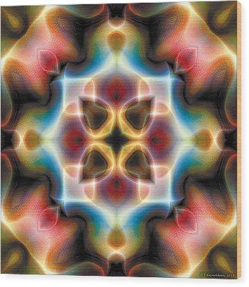 Mandala 77 Wood Print by Terry Reynoldson