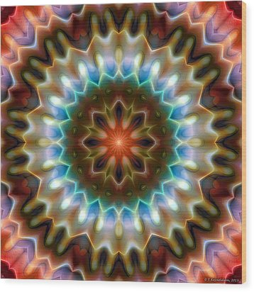 Mandala 79 Wood Print by Terry Reynoldson