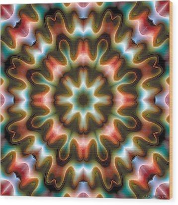 Mandala 80 Wood Print by Terry Reynoldson